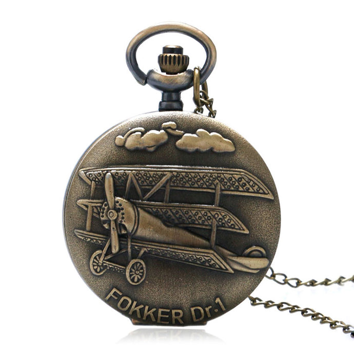 Vintage Bronze Fokker Pocket Watch