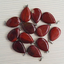 Natural Water Drop Stone Pendants & Necklaces Wholesale 12PCS