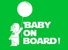 Baby On Board Reflective Car Stickers