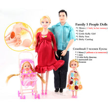 Baby Carriage Pregnant Family Doll