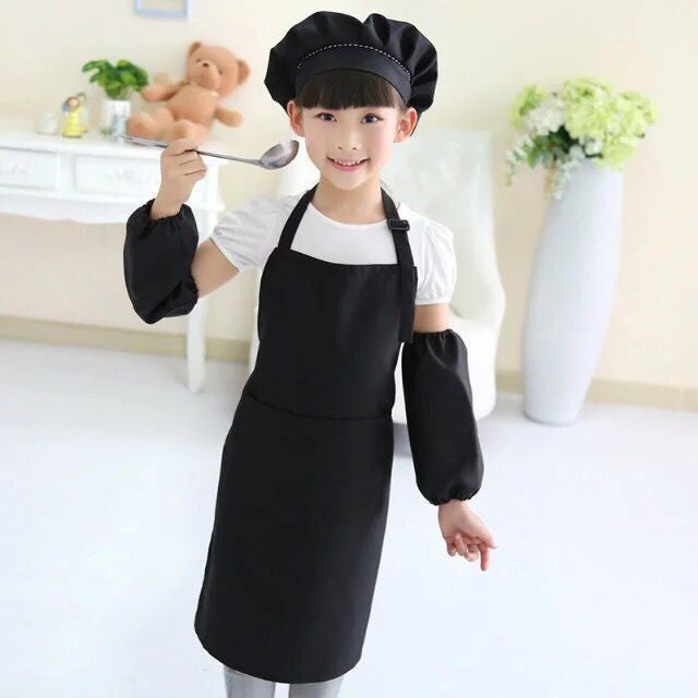 Apron Sleeves Hat Set