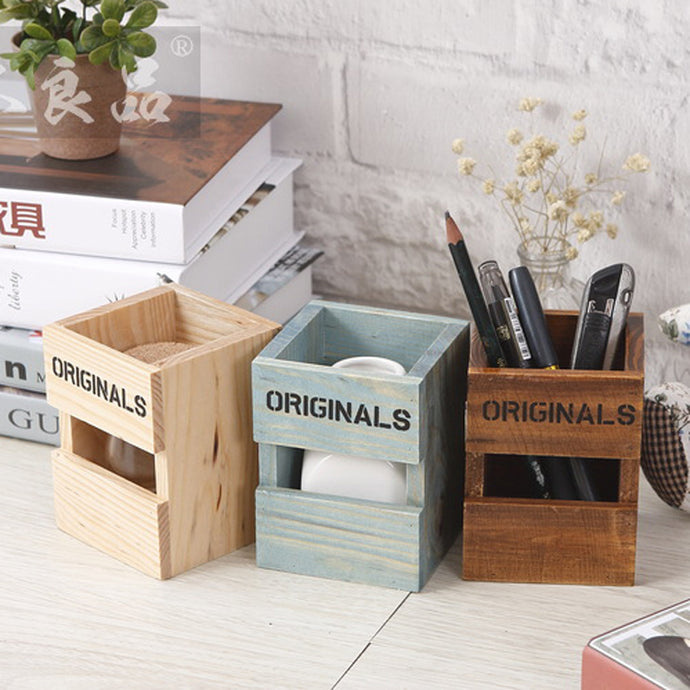 Retro Wood Pen Holders