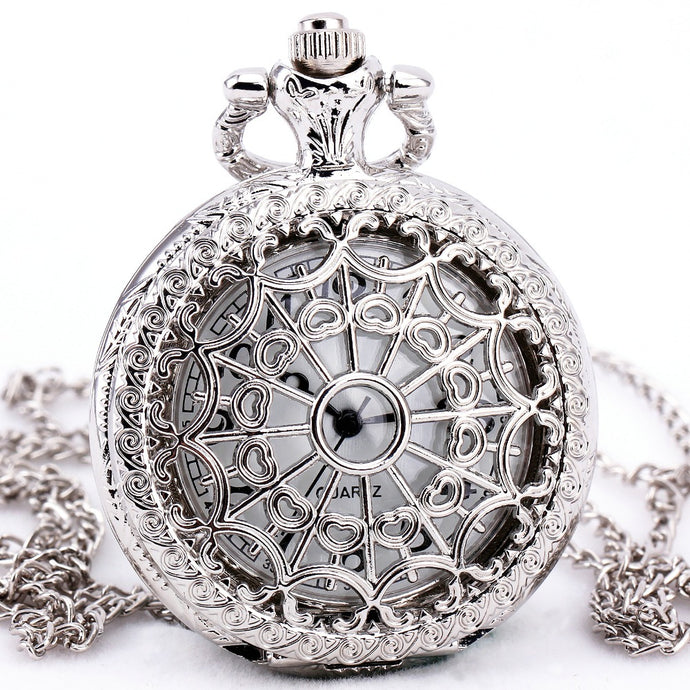 Metal Carved Lid Pocket Watches