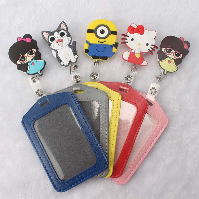 Cartoon Animals Badge ID Name Holder