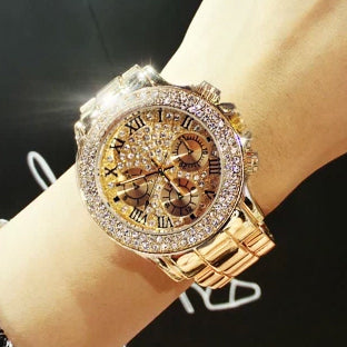 Sparkling Rose Gold Wristwatch