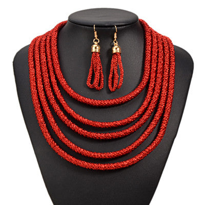 Magnetic Multilayer Vintage Necklace