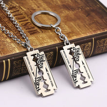 British Metal Pendant Keychain Necklace