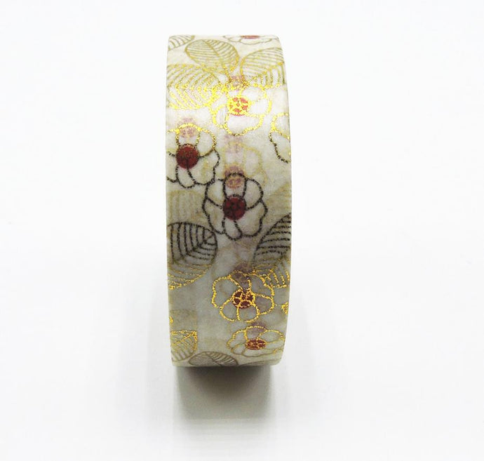 Flower Gold Foil Decorative Washi Tape