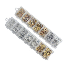 Plated Metal Rondelle Spacer Beads