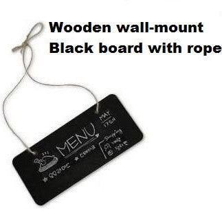 Small Wooden Wall Mount Black board