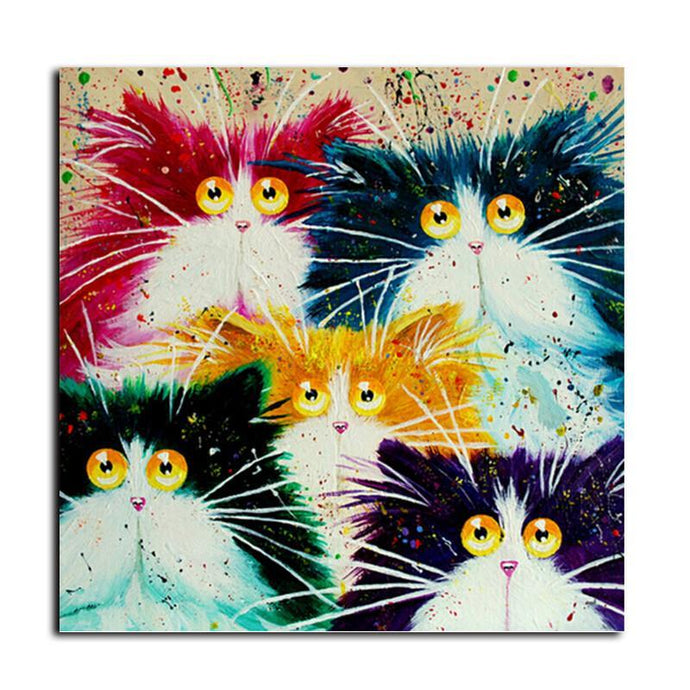 Colorful Cats Painting