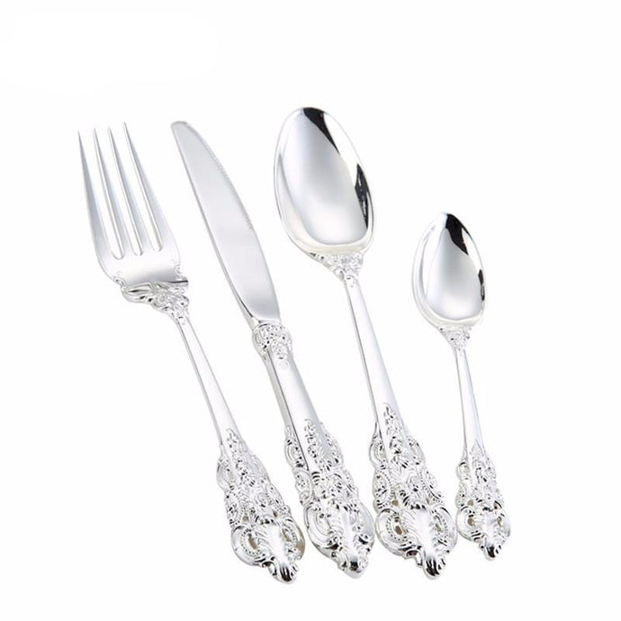 Silver Cutlery Dinner Set
