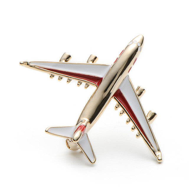 Alloy Airplane Brooch Pins