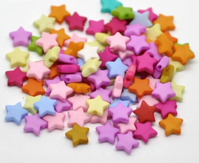 Mixed Star Acrylic Spacer Beads