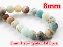 Matt Natural Amazonite Stone Beads