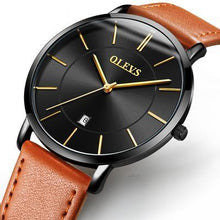 Genuine Leather Sports Watch