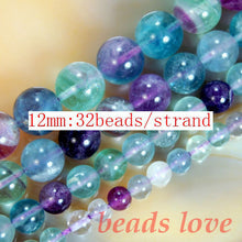 Natural Colorful Fluorite Round Beads