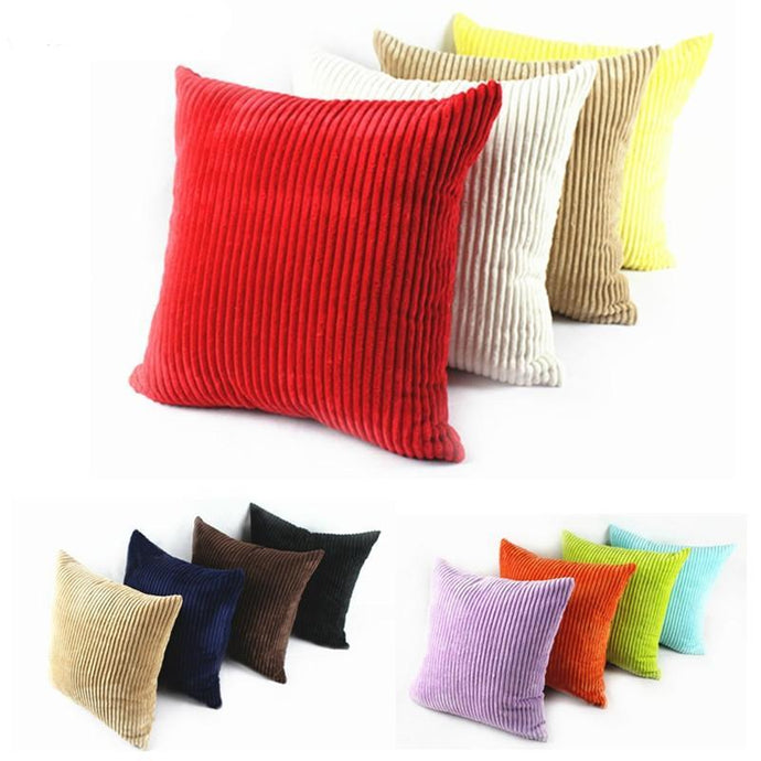 Corduroy Pillow Case with Zipper