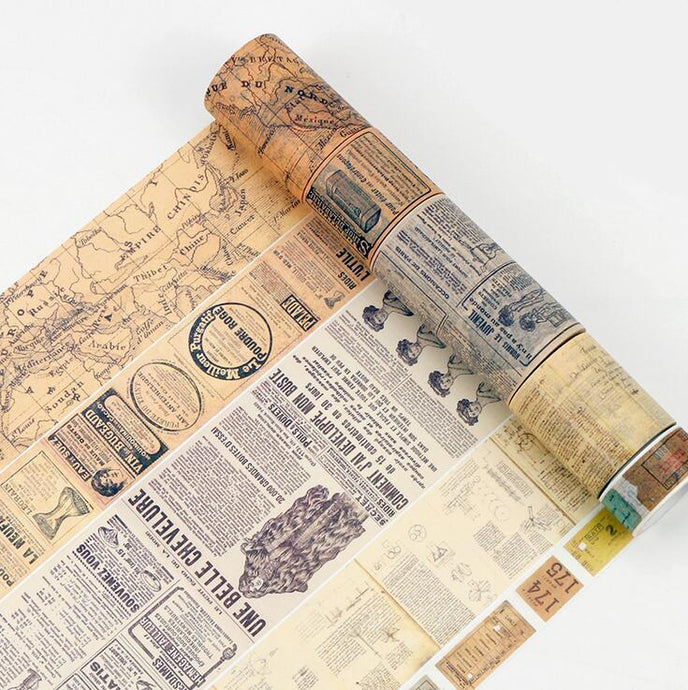 Creative Newspaper Map Gothic Tape