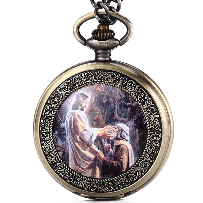 Christian Retro Worship Pocket Watch