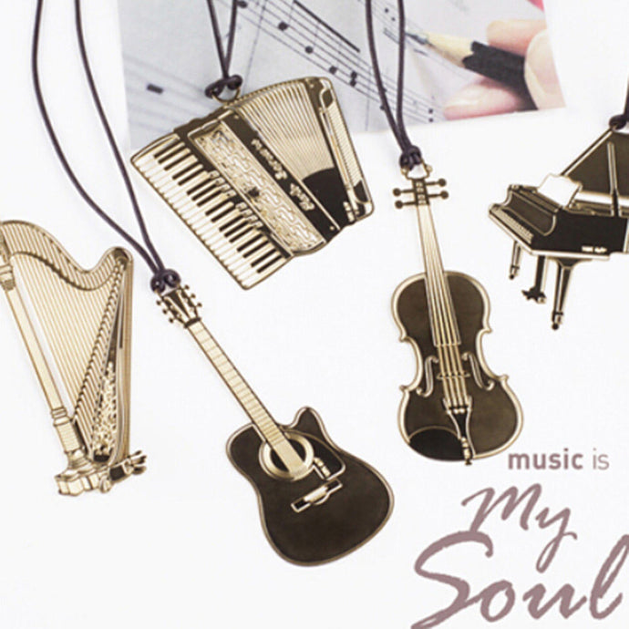 Golden Metal Music Bookmarks