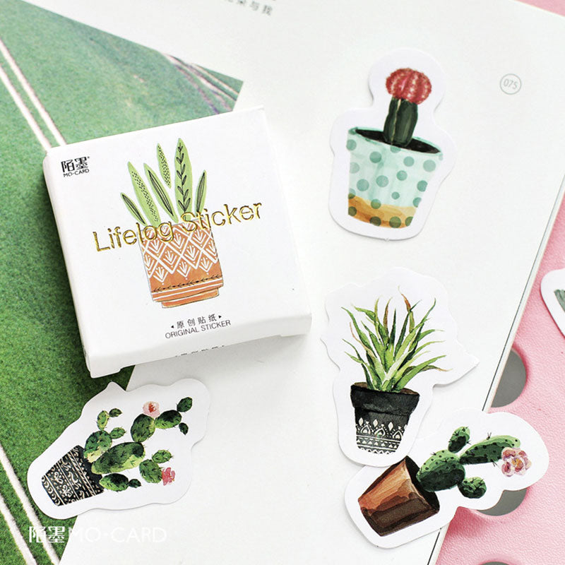 Cute Plant Cactus Stickers