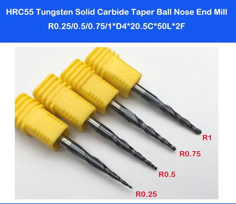 Carbide Tapered Ball Nose