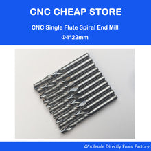 Spiral End Mills Single Flutes