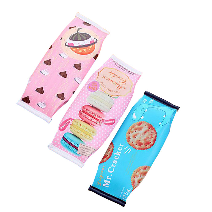 Macaron Cracker School Pencil Case