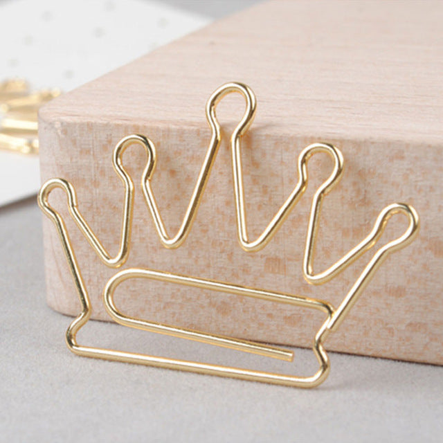 Golden Crown Paper Bookmark