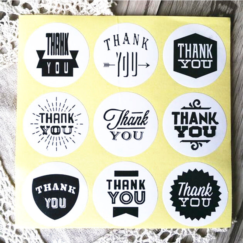 Thank You Stationery Label Sticker