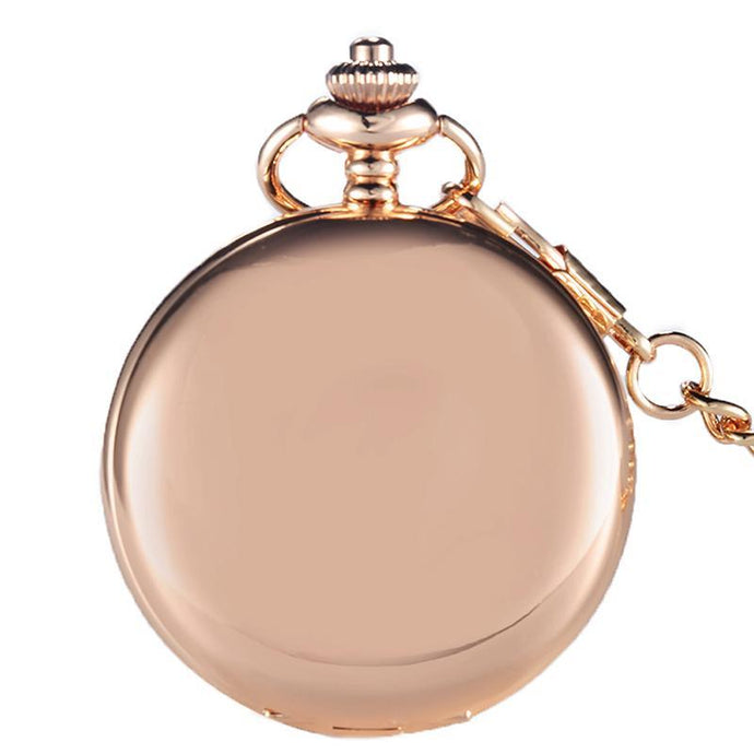 Luxury Rose Gold Pocket Watch