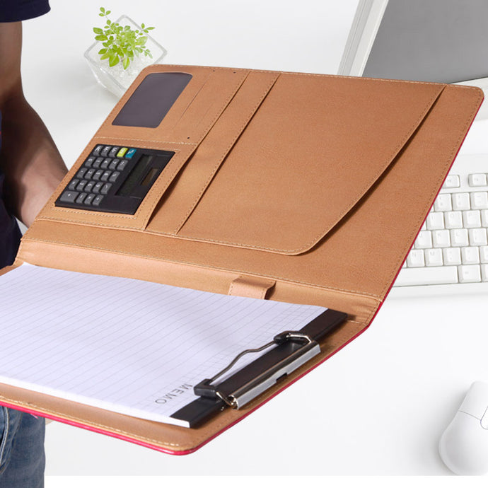 PU Leather Portfolio Notebook
