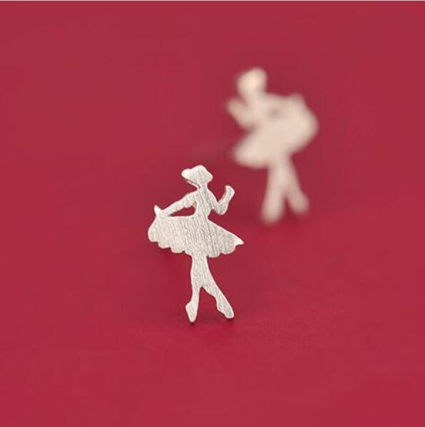 Cute Ballet Stud Earrings