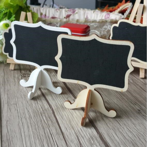 Wooden Mini Blackboard Set