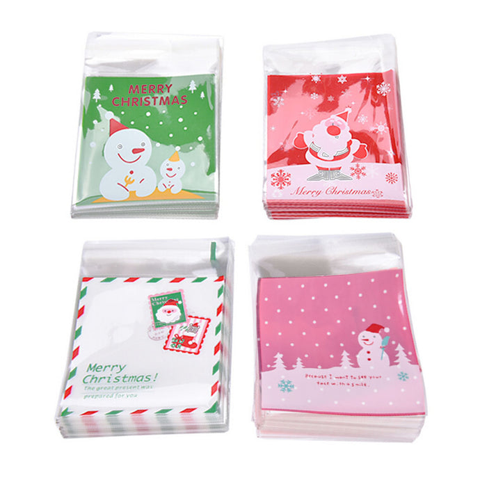 Self Adhesive Christmas Cookie Bag