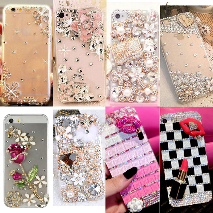 Rhinestone iPhone Clear Case