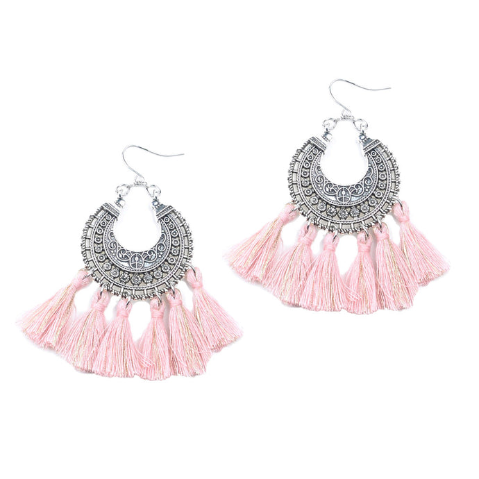Ethic Style Short Tassels Earrings