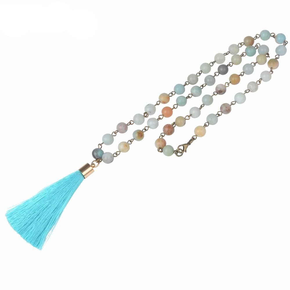 Beads Long Tassel Necklace