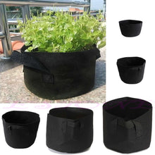 Black Fabric Container Bag