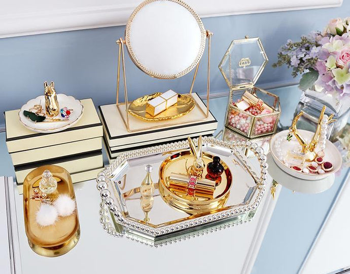 Luxury Gold Makeup Organizer