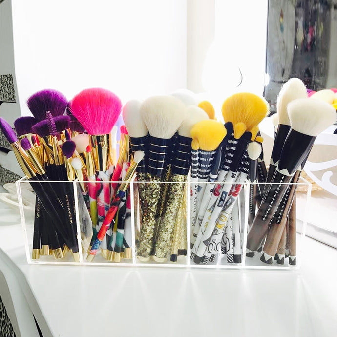 Makeup Brushes Organizer Box