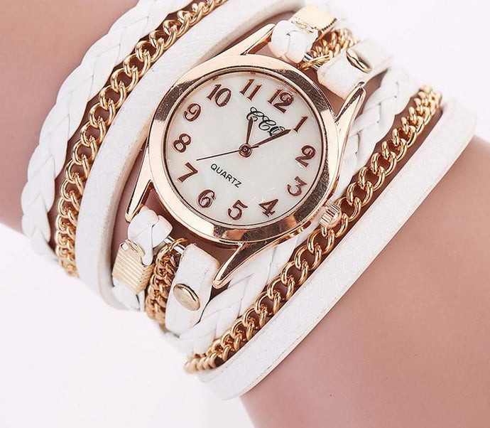 Infinity Leather Chain Wristwatch