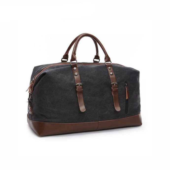 Canvas Leather Carry on Luggage Bags