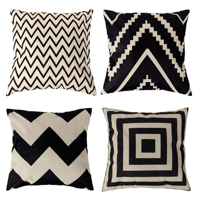 Vintage Cotton Linen Cushion Covers