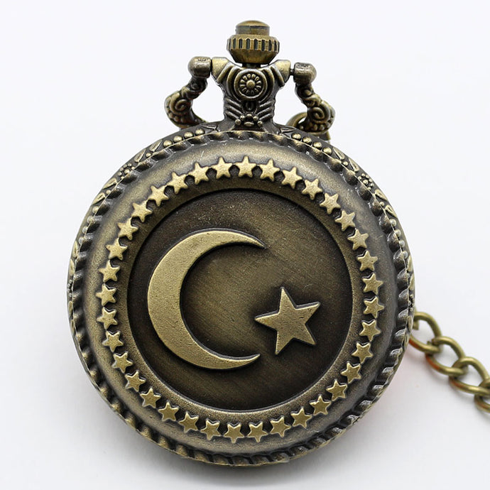 Turkish Flag Design Pocket Watch