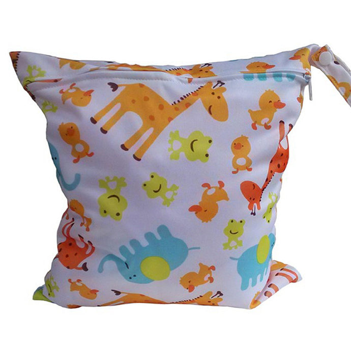 Zipper Baby Cloth Diaper Wet