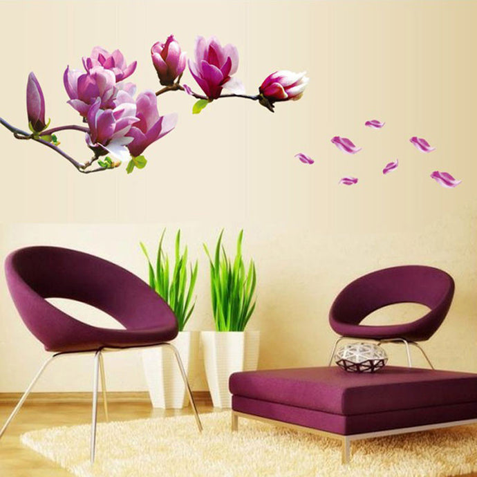 Purple Flower Wall Stickers