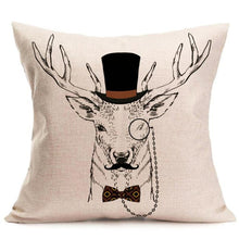Classical Christmas Deer Pillow Case