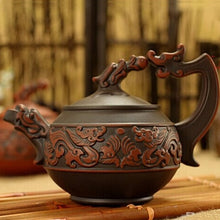 Antique Hand-Carved Dragon Teapot